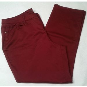 FALLS CREEK Staight burgundy Jeans Pants p…